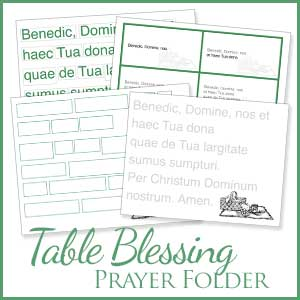 Table Blessing Graphic for Latin Games
