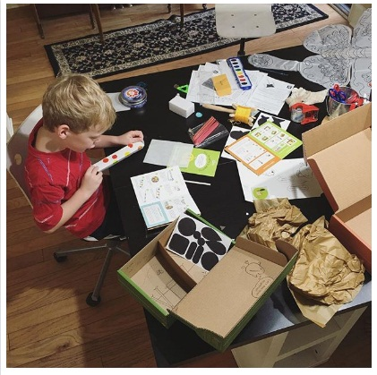 Drawbot and the Light and Shadow crates from Tinker Crate and Kiwi Crate