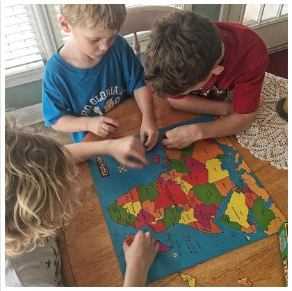 Geo-Puzzles Your Morning Basket Favorite